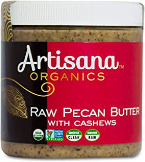 product image for Artisana Organics Raw Pecan Butter with Cashews, 9 oz | No Sugar Added, Just Two Ingredients | Vegan, Paleo and Keto Friendly