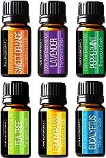 Pure Body Naturals Essential Oils Set, 6 Count - 10 ml