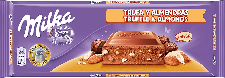 Milka tableta de chocolate leche con avellanas y trufa(e300g): Amazon.es: Alimentación y bebidas