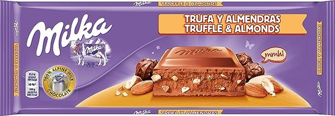 Milka tableta de chocolate leche con avellanas y trufa(e300g)