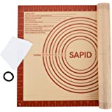 Sapid Extra Thick Silicone Baking Mat Non-stick for Non-slip Silicone Pastry Mat with Measurements, Dough Rolling Large…