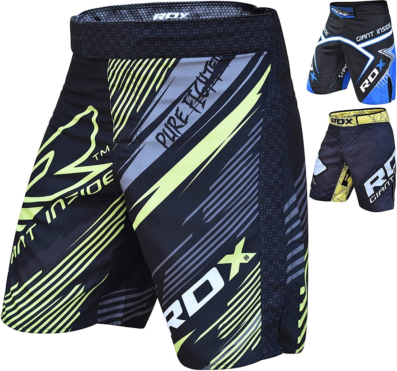 RDX MMA Pantalones Boxeo UFC Corto Entrenamiento Muay Thai Shorts Running Fitness Kickboxing
