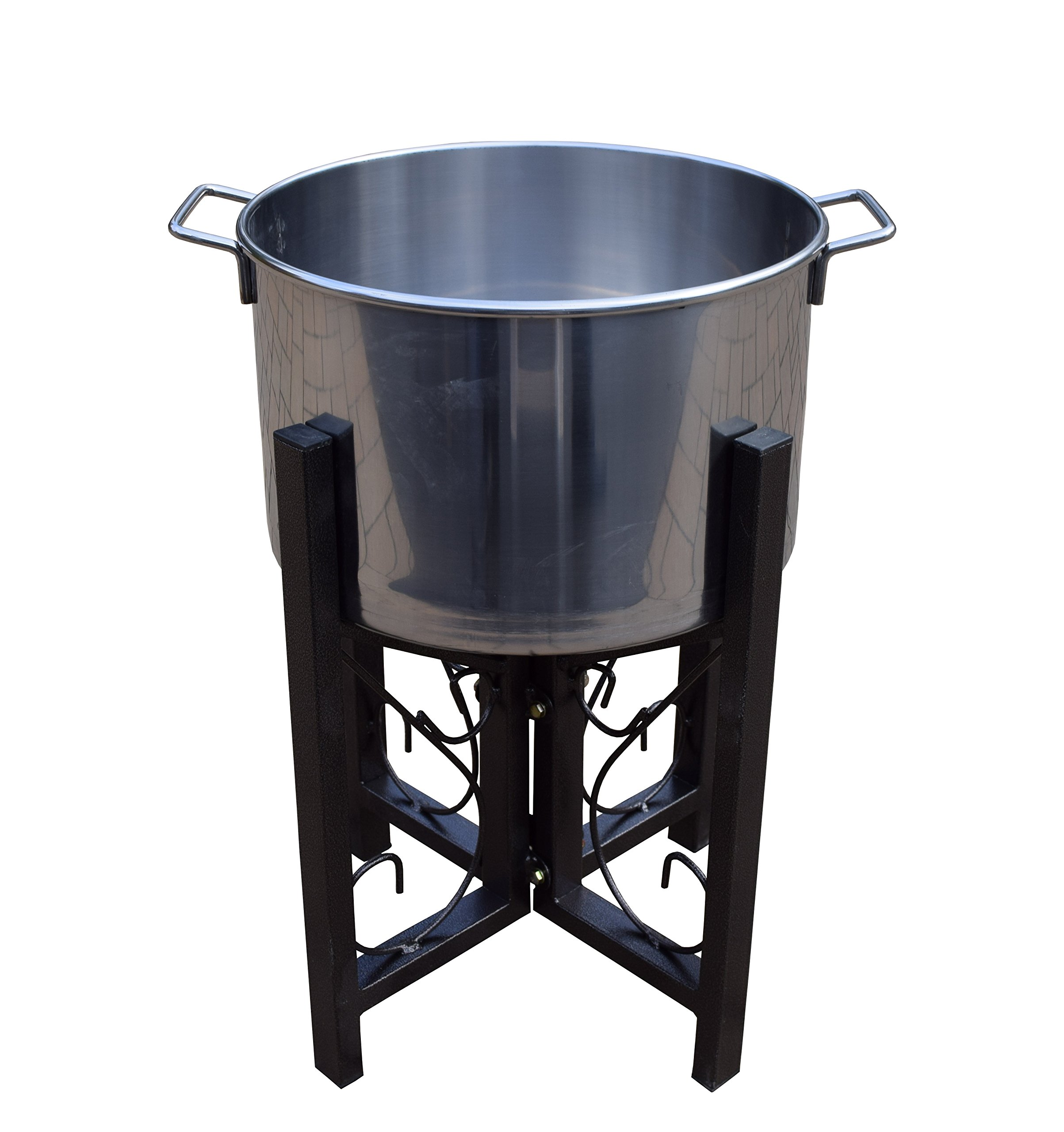 Oakland Living 91002-BK Stainless Steel Ice Bucket and Stand, 14-Inch, Black