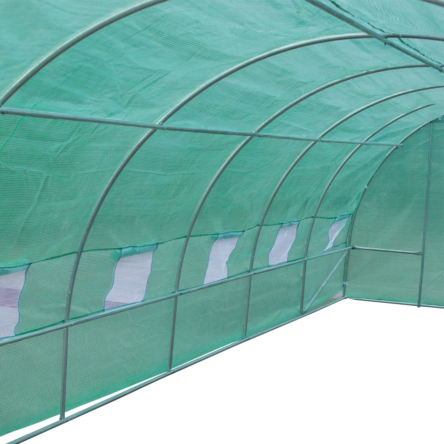Outsunny 26' x 10' x 7' Portable Walk-in Garden Greenhouse - Deep Green by Outsunny (Image #5)