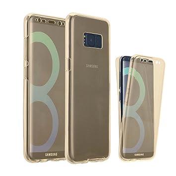 LINCIVIUS Carcasa Samsung Galaxy S8 Edge, Funda Galaxy S8 carcasa protección suave TPU full Cover 360 Funda Integrale delantero y trasero