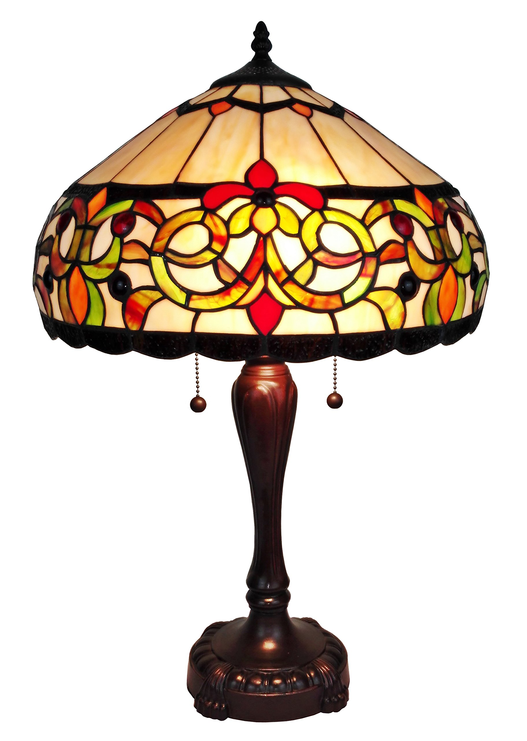 Amora Lighting AM081TL16 Tiffany Style Floral Table Lamp 24''H