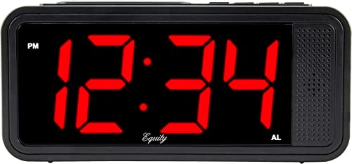 Equity by La Crosse 75905 1.8 inches LED Simple Set Alarm Clock, Black Renewed