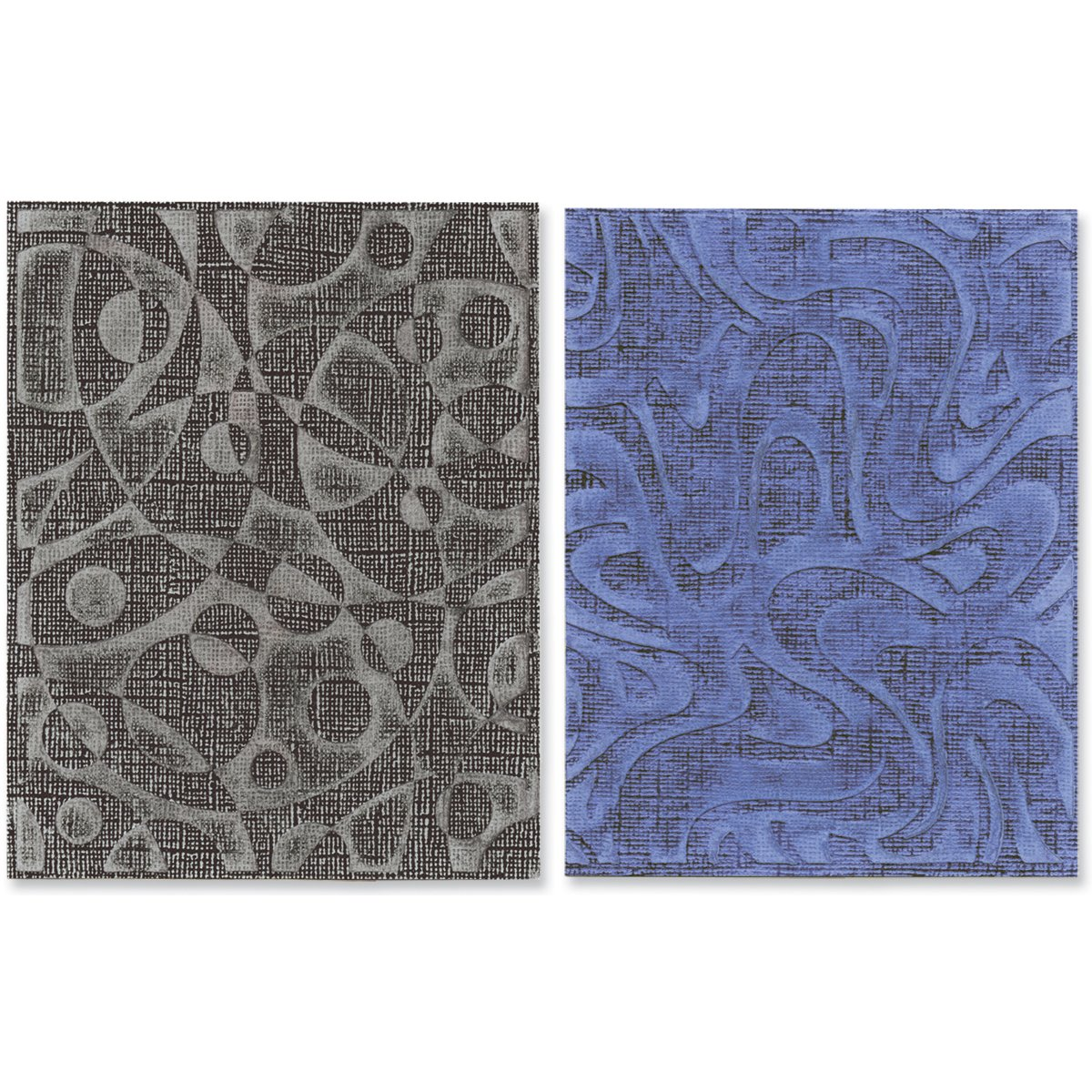 Sizzix Texture Fades goffratura cartelle di Tim Holtz 2/Pkg-Retro Cirque 5.5
