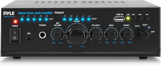 6. Pyle 2X120 Watt Home Audio Power Amplifier
