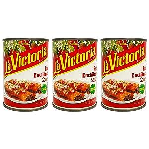 La Victoria Enchilada Sauce - 3 Pack Bulk La Victoria Red Enchilada Salsa (Mild)