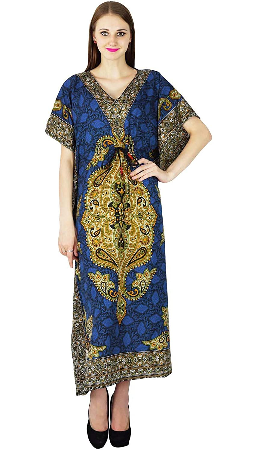 Strand-Vertuschung Kaftan Boho Hippy Indian Plus Size Tunika Neue Frauen-Kleid Kaftan