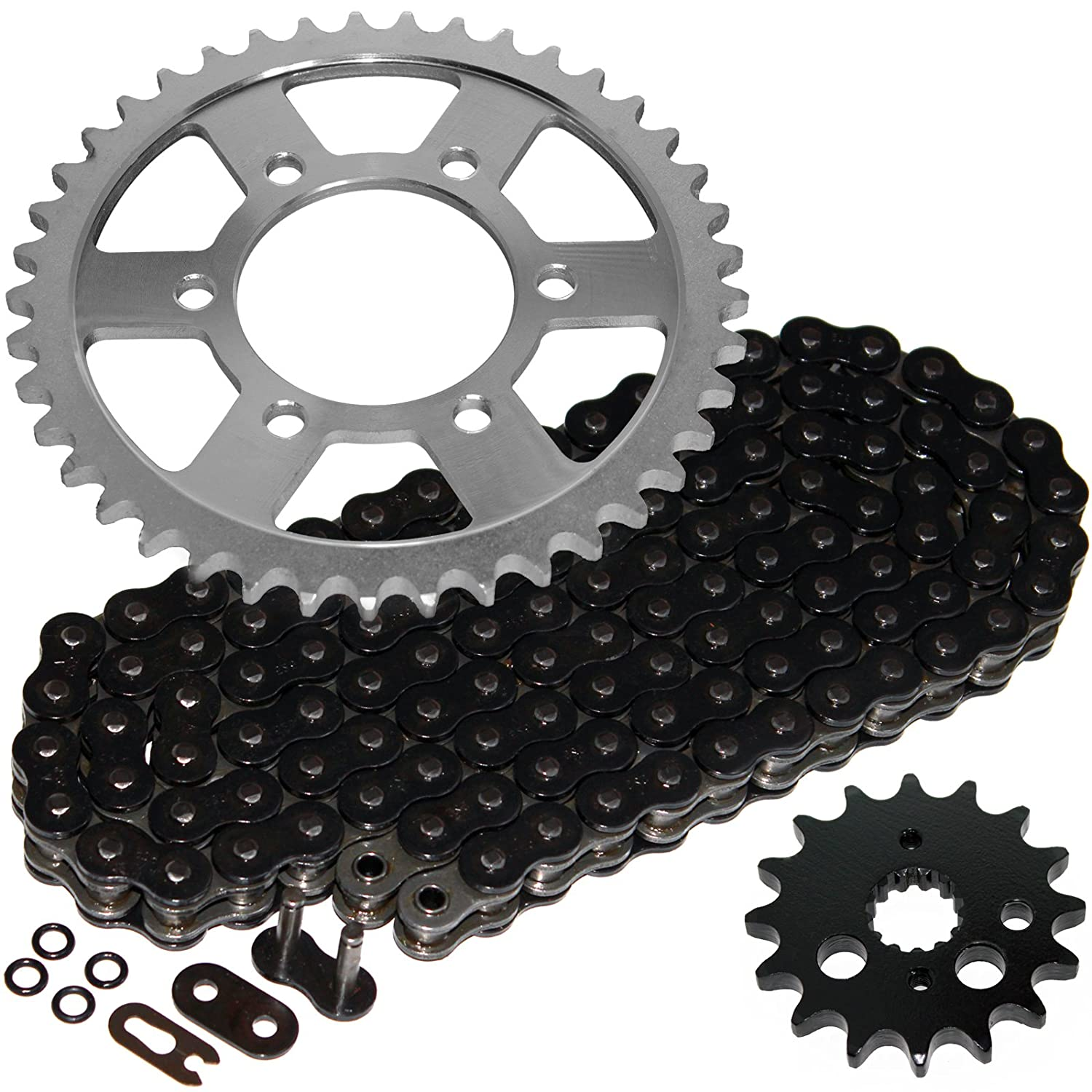Caltric Black O-Ring Drive Chain & Sprockets Kit for Kawasaki Zx900 Zx-900 Ninja Zx9R 1998-2001