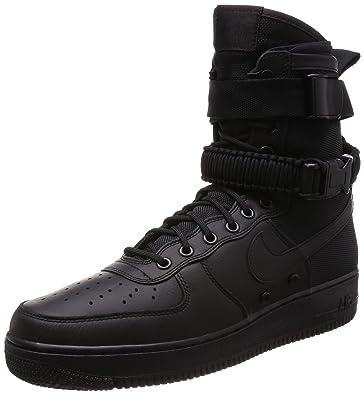 Zapatillas Nike para Hombre SF Air Force 1 Hi 1.0 en Piel y Tela Negro 864024-003: Amazon.es: Zapatos y complementos