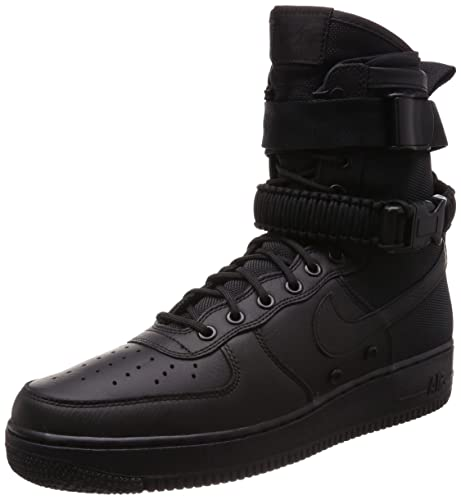 new product 8ef53 49398 Nike Men s Shoes Sf Air Force 1 Hi 1.0 in Leather and Black Fabric 864024- 003  Amazon.co.uk  Shoes   Bags
