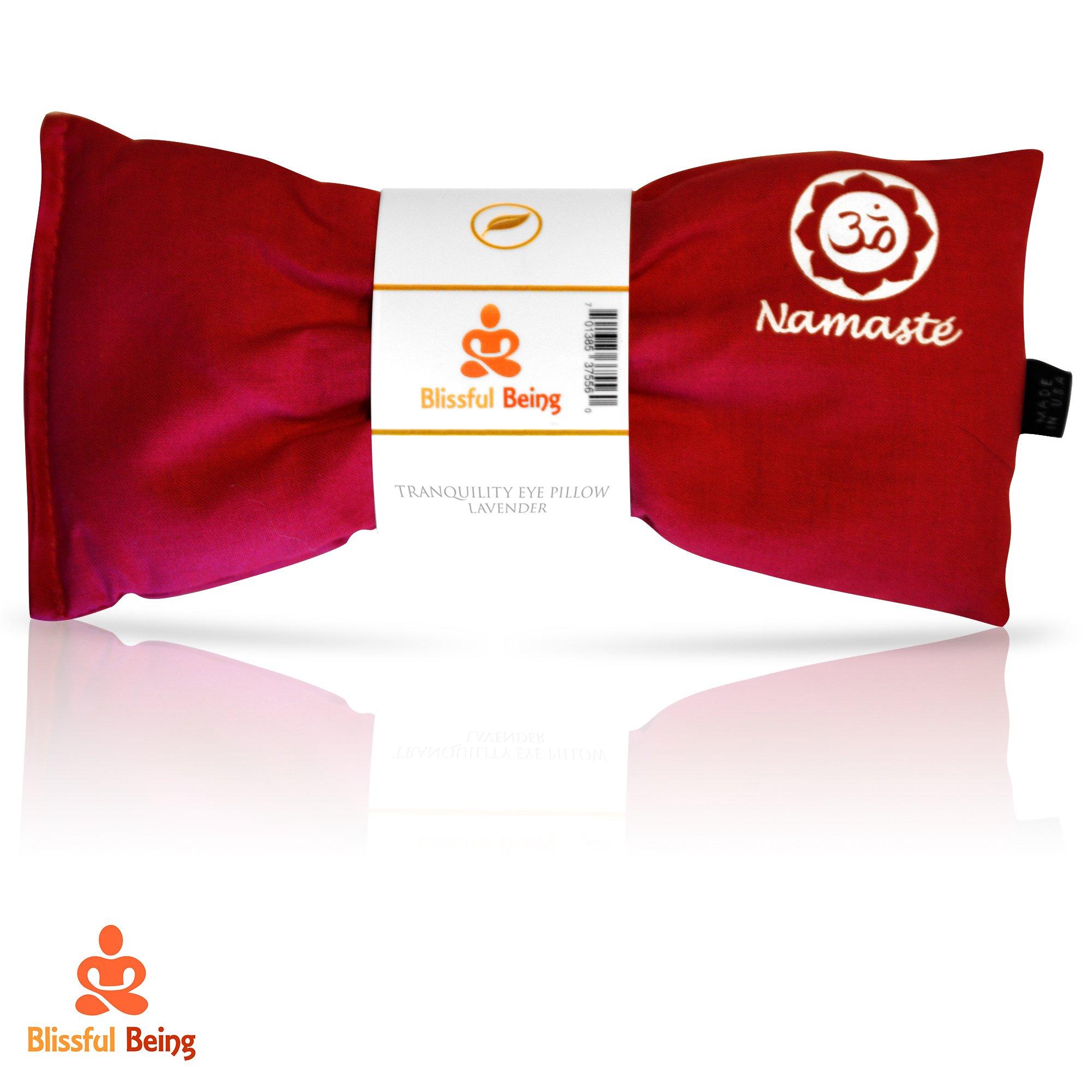 Namaste Yoga Eye Pillow with Lavender | Weighted Eye Mask (Pink)