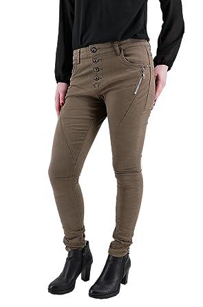 t fd LEXXURY Damen Stretch Boyfriend Jeans Hose ZIPPER Reißverschluss  Knopfleiste (8335)  Amazon.de  Bekleidung 1dba52d462