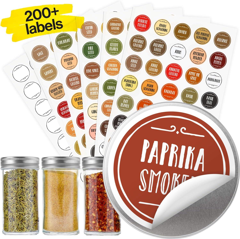 Set of 50 Large Herb /& Spice Jar Labels Self Adhesive Waterproof Vinyl.