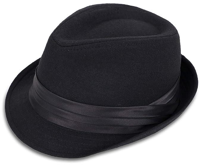 a79c7330983 Jasmine Womens Mens Manhattan Fedora Gangster Hat Costume Accessory, Black