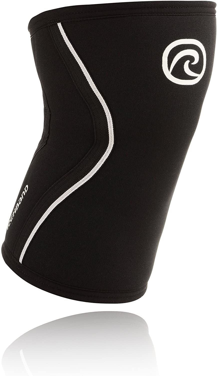 Rehband Rx Knee Support 5mm - Medium - Black- Expand Your Movement + Cross Training Potential - Knee Sleeve for Fitness - Feel Stronger + More Secure - Relieve Strain - 1 Sleeve