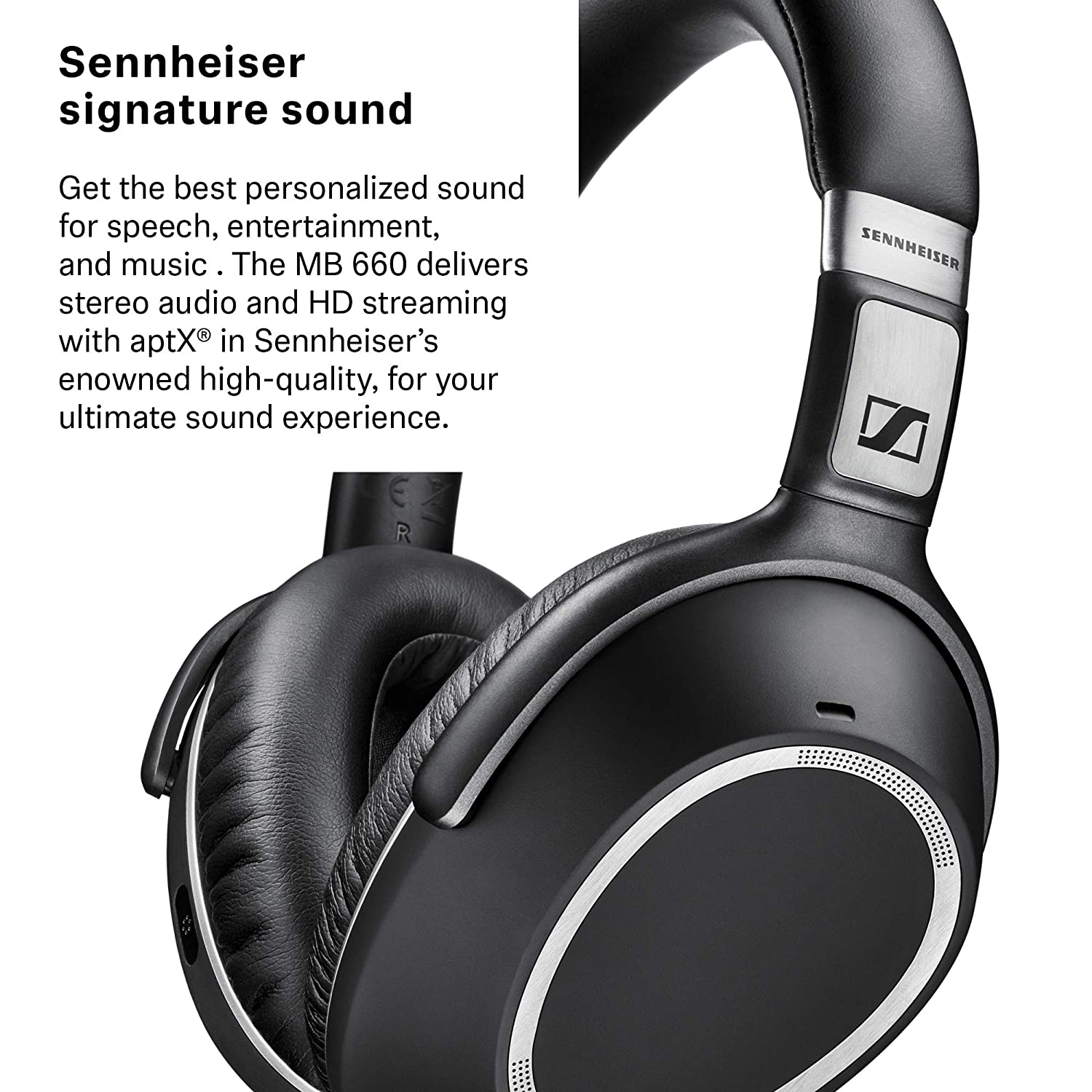 ba339c34a78 Amazon.com : Sennheiser MB 660 MS (507093) - Dual-Sided, Dual-Connectivity,  Wireless, Bluetooth, Adaptive ANC Over-Ear Headset | For Desk/Cell Phone ...