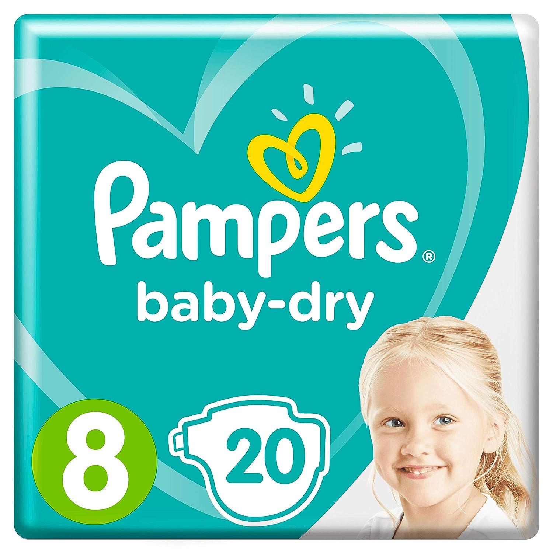 Pampers Baby-Dry Gr 20 Windeln F/ür Atmungsaktive Trockenheit 8