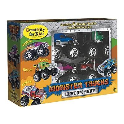 Creativity for Kids Monster Truck Custom Shop - Customize 4 Monster Trucks: Home Improvement
