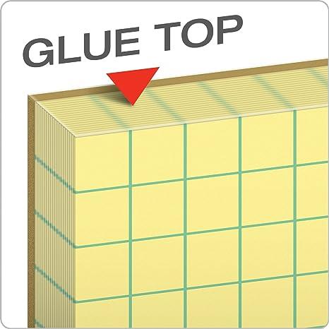 TOPS Quadrille Pad 3313 Gum-Top 4 x 4 8-1//2 x 11 Inches Quad Rule 12 Pads per Pack 50 Sheets per Pad Canary Paper