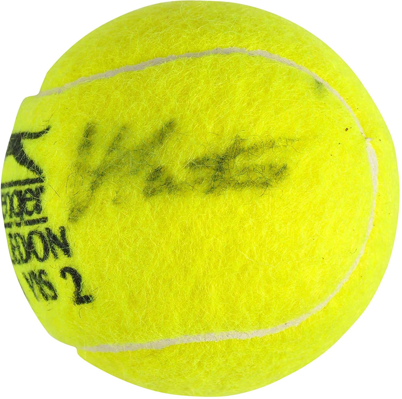 Martina Navratilova Autographed Wimbledon Logo Tennis Ball - Fanatics Authentic Certified - Autographed Tennis Balls