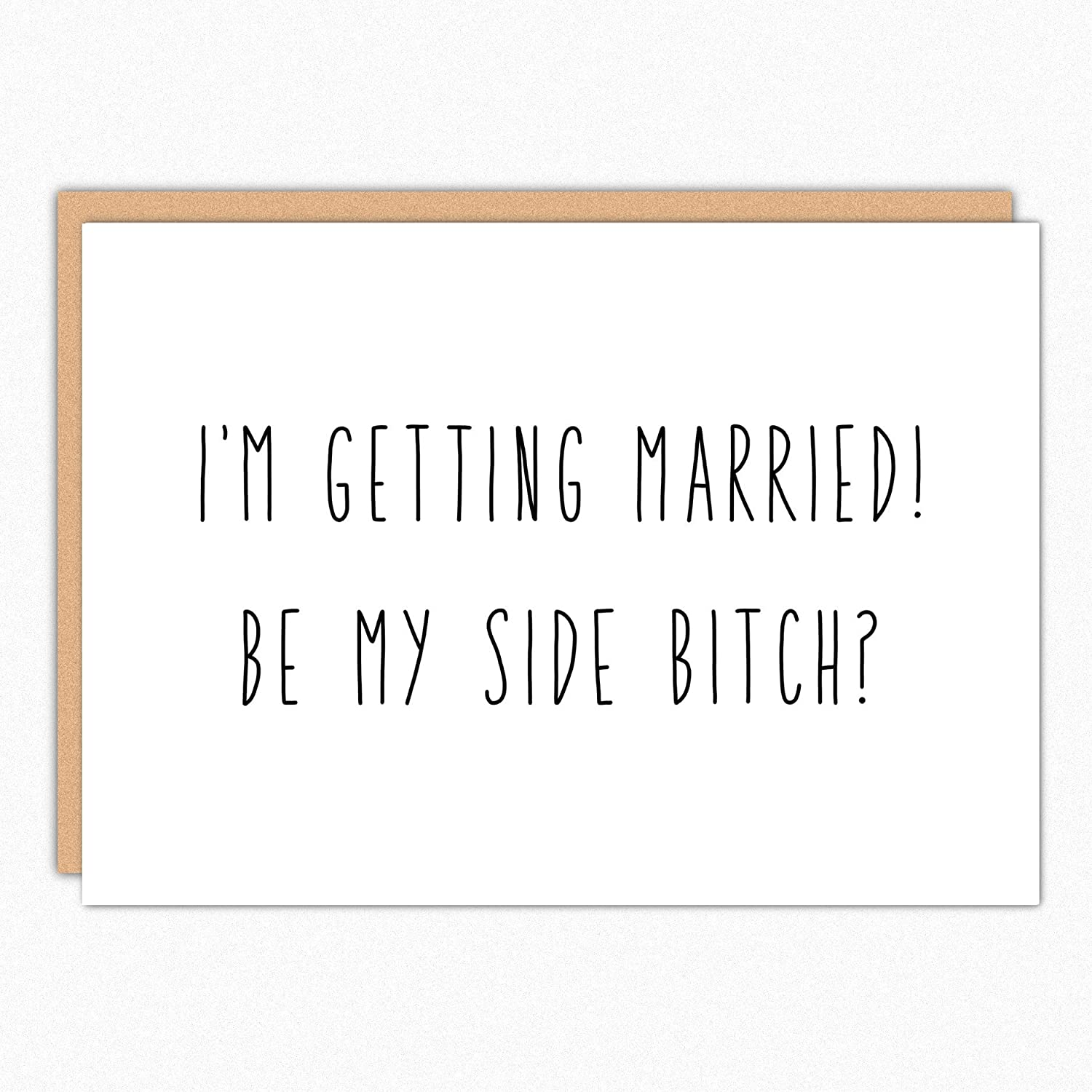 187 Be My Side Bitch Funny Bridesmaid Ask Card Will You Be My Bridesmaid Card Wedding Party Proposal Card.