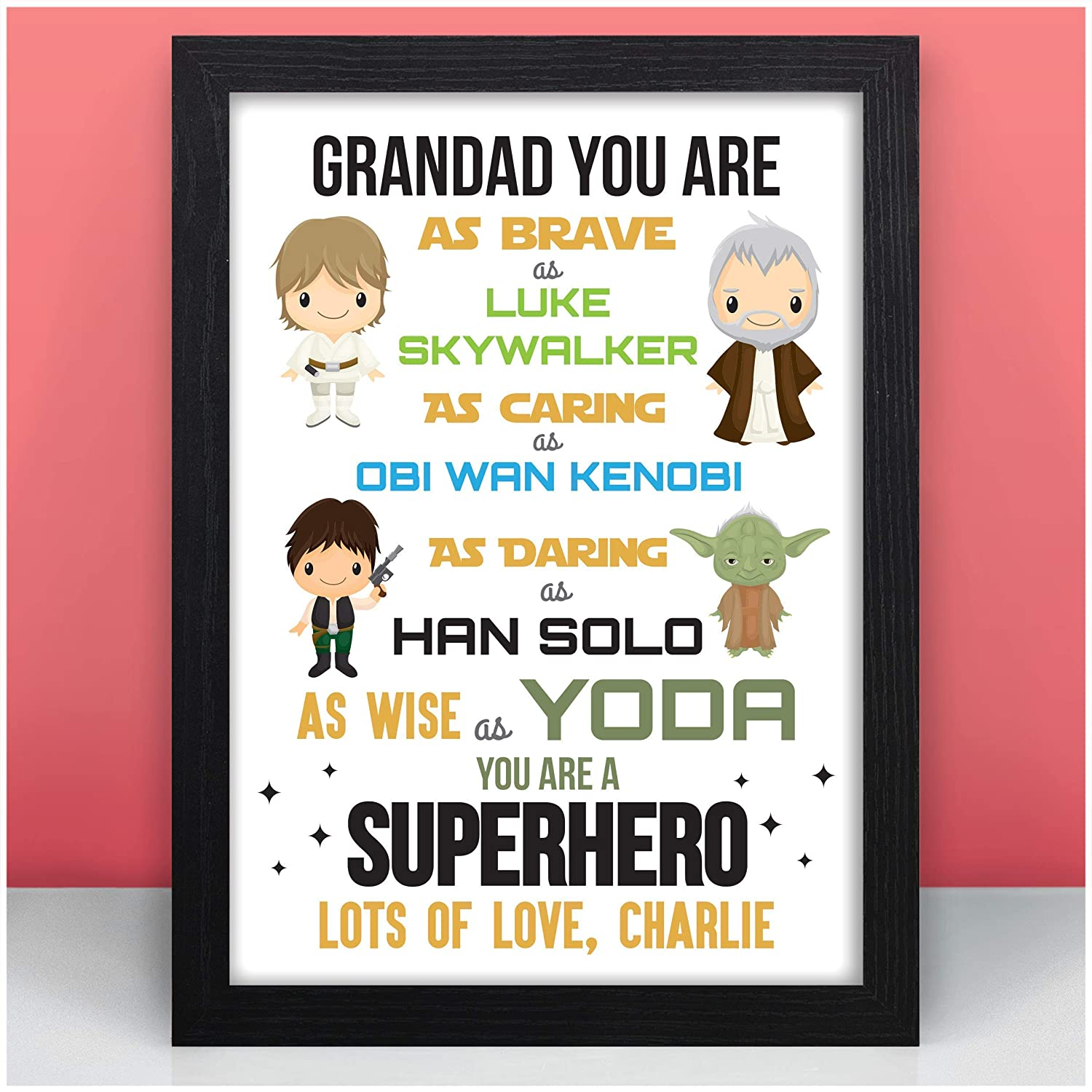 Dad Christmas Gifts.Starwars Dad Daddy Father Personalised Christmas Gifts Xmas