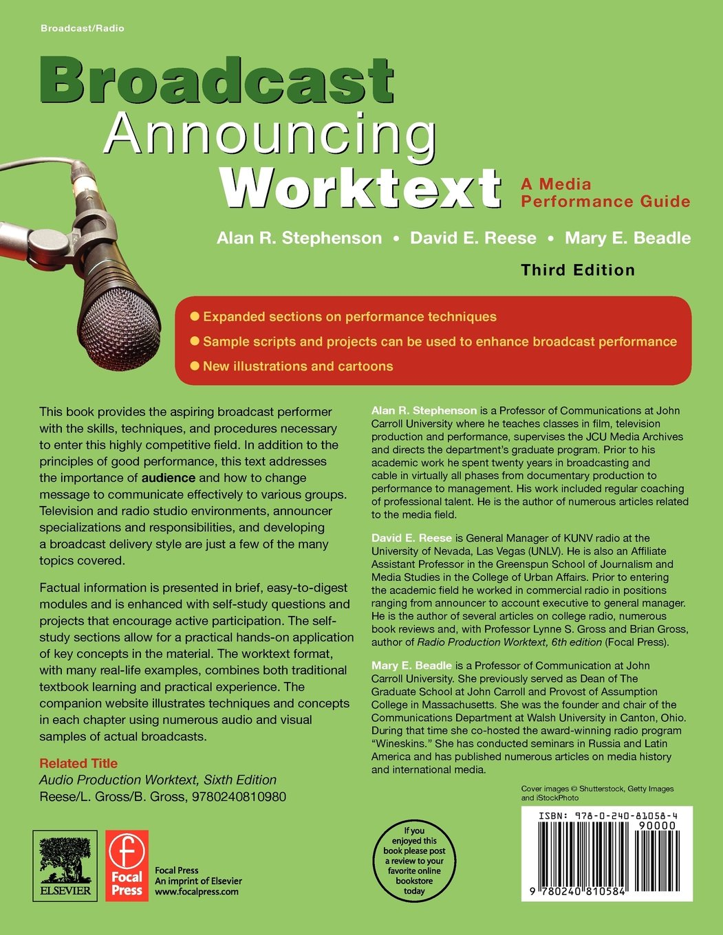 Broadcast Announcing Worktext, Third Edition: A Media Performance Guide by Focal Press