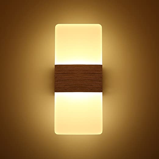 Topmo Modern Acrylic 12w LED Wall Sconces Aluminum Lights Decorative Lamps Night Light for Pathway,
