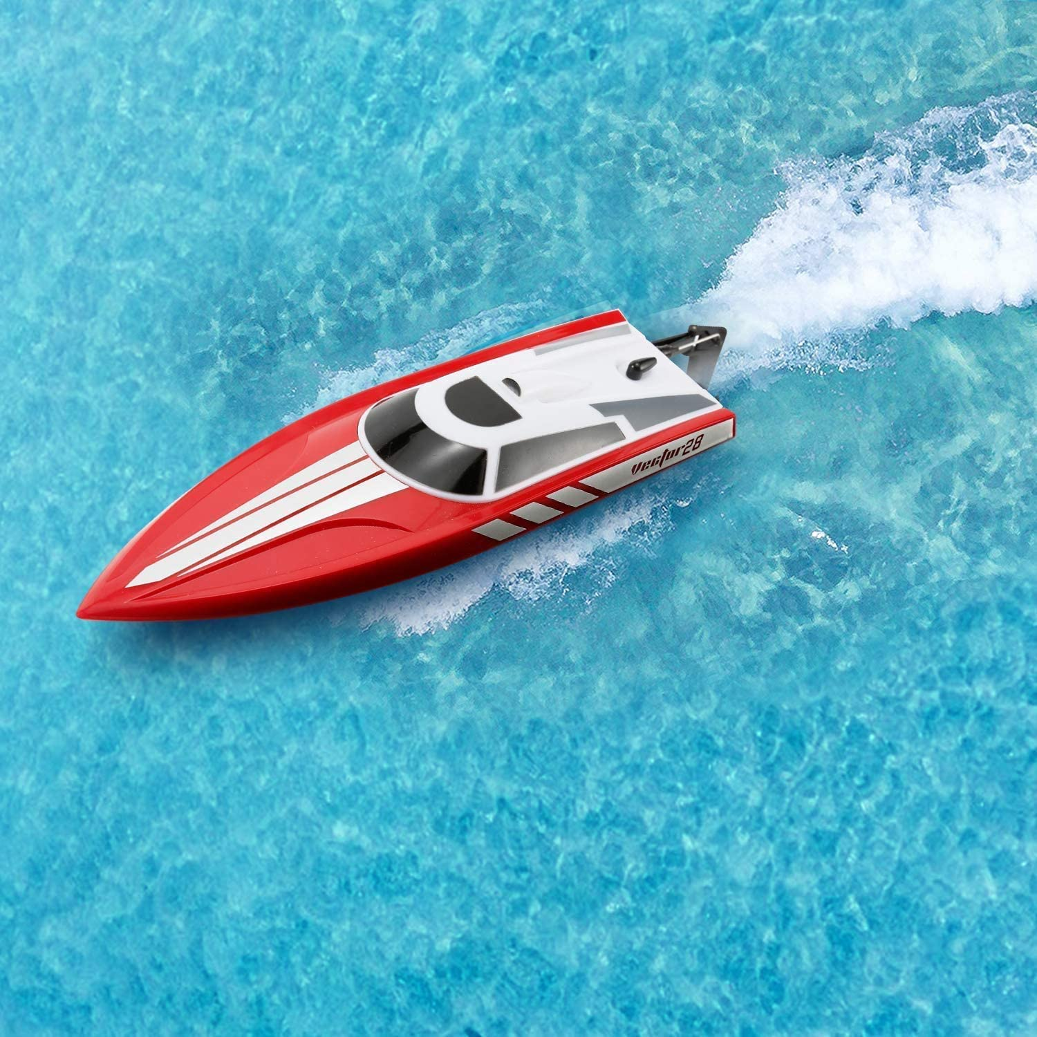 Remote Control Boat: for Pools, Lakes & Rivers, Fast RC Boat for Adults & Kids with 2.4Ghz Radio Controller, 30MPH Self-Righting Remote Control Electric Toy Boats