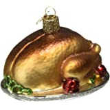 Old World Christmas Turkey Platter Glass Blown Ornament