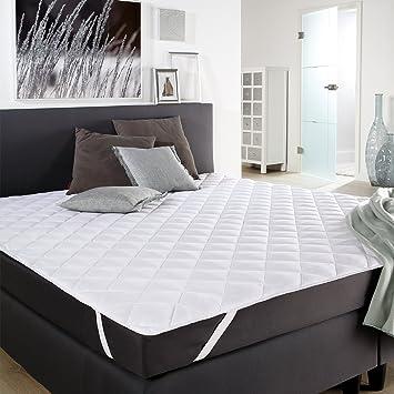 PROHEIM Manta Protectora de colchón de Microfibra 180 x 200 cm - Cubrecolchón almohadillado Lavable a 60°: Amazon.es: Hogar