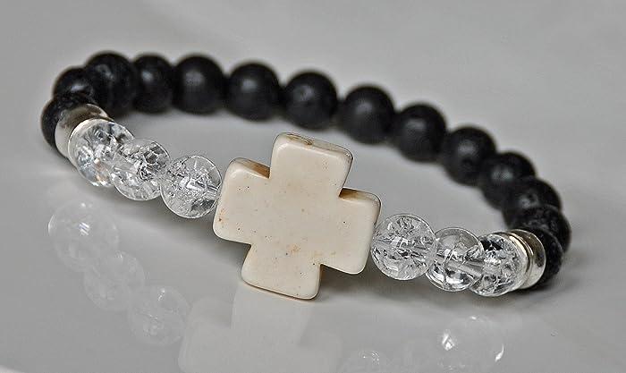 Amazon Com Mens Faith Bracelet Cross Bracelet Spiritual Bracelet
