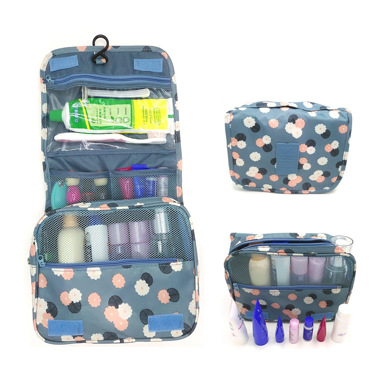 5796eb5c800a Amazon.com  Kecuco Travel Bag Toiletry Bag Multifunction Bathroom Storage  Cosmetic Bag Portable Makeup Pouch Waterproof Travel Hanging Organizer Bag  for ...