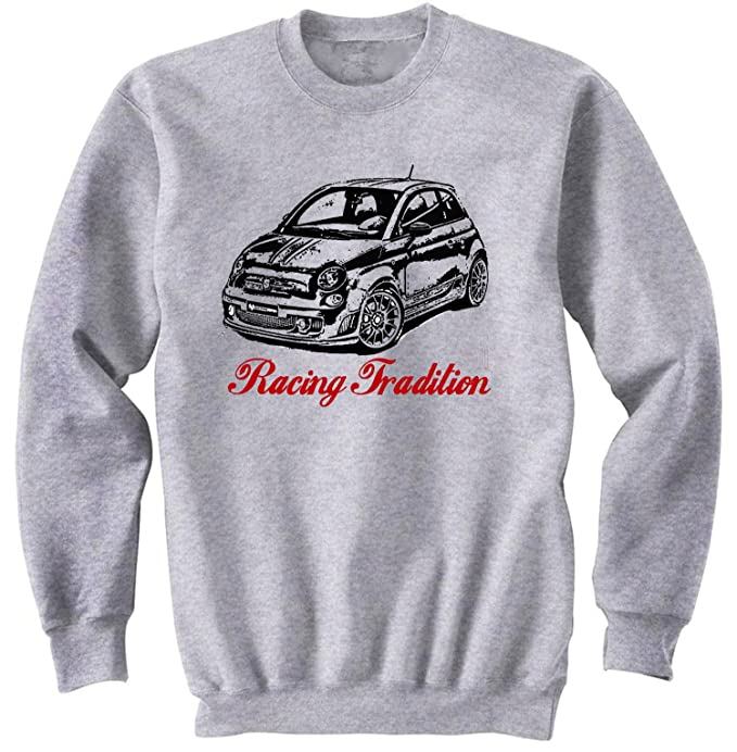 TEESANDENGINES Mens FIAT Abarth 2015 Racing Tradition P Gris Sudadera: Amazon.es: Ropa y accesorios