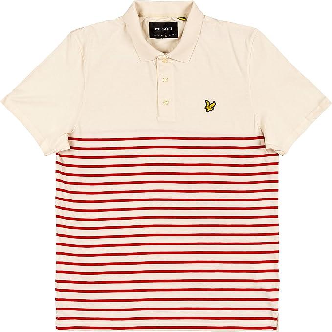 Lyle & Scott Men Polo Shirt Breton Stripe SP902V, Größe:M, Farbe ...