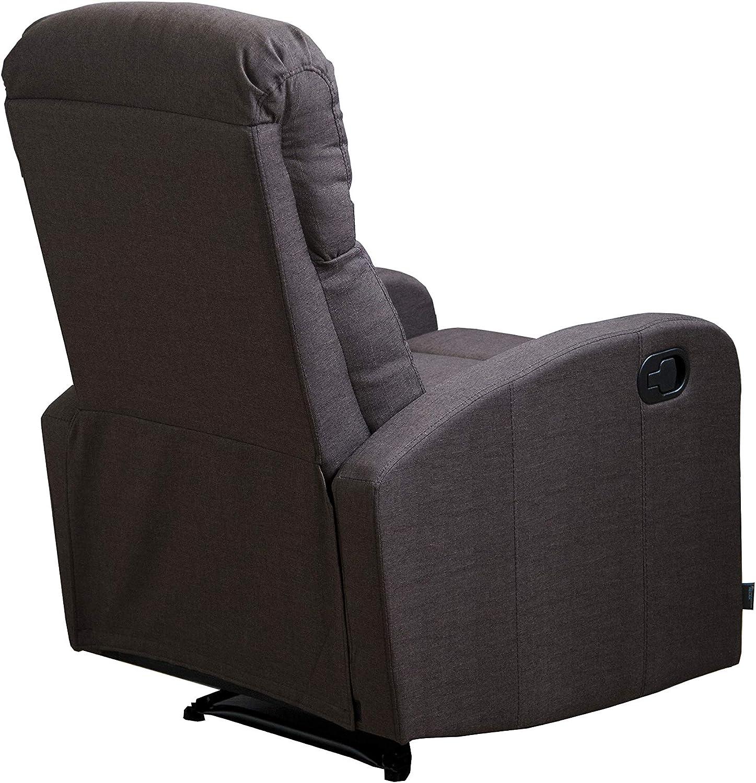 Astan Hogar Confort Plus Sill/ón Relax Tela Compacto Negro