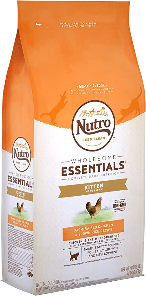 The Nutro Company Wholesome Essentials - Comida para gatitos con pollo y fórmula de arroz marrón, 1,27 kg: Amazon.es: Productos para mascotas