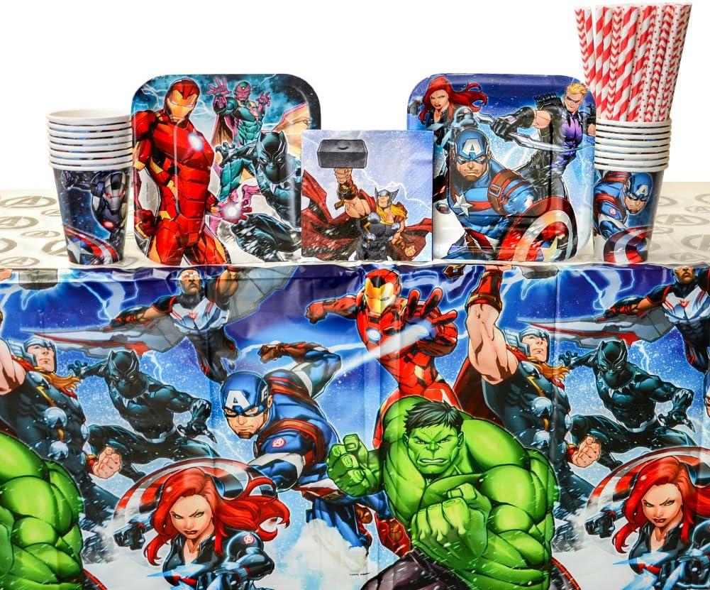 Amazon.com: Marvel Avengers Suministros para fiestas Pack ...
