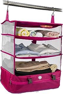 c00d4418d4 持ち運べるクローゼット ワイド ピンク Fu-90080 <スーツケース 収納バッグ トラベルバッグ 旅行 ガーメント