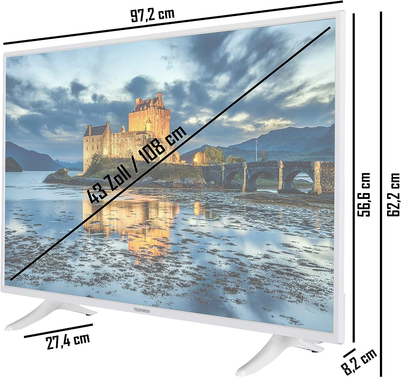 Elektronik & Foto Fernseher Telefunken XF43J511-W 43 Zoll ...