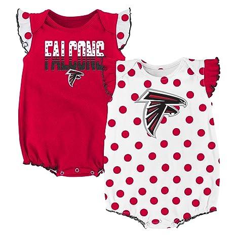 save off 56ef7 fc6e8 Amazon.com : NFL Atlanta Falcons Creeper Set, Crimson, 24 ...
