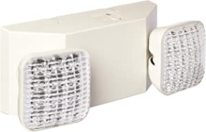 LED Two Head Emergency Light with Battery Back-up White (2 Pack)
