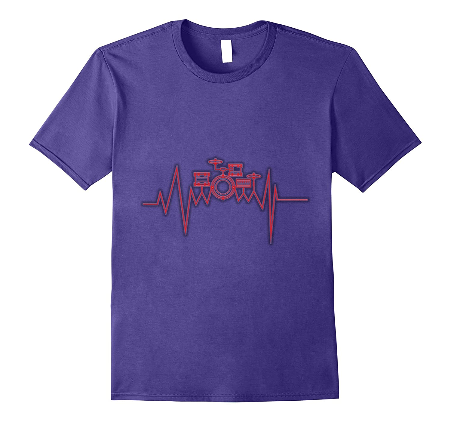 Heartbeat Drums Drumsticks Funny T-Shirt Cool Drummer Gift-Vaci