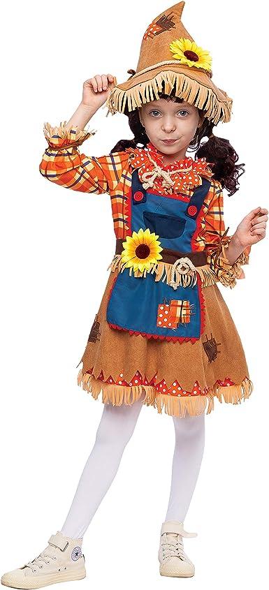 Disfraz de girasol dulce espantapájaros para niñas y niños ...