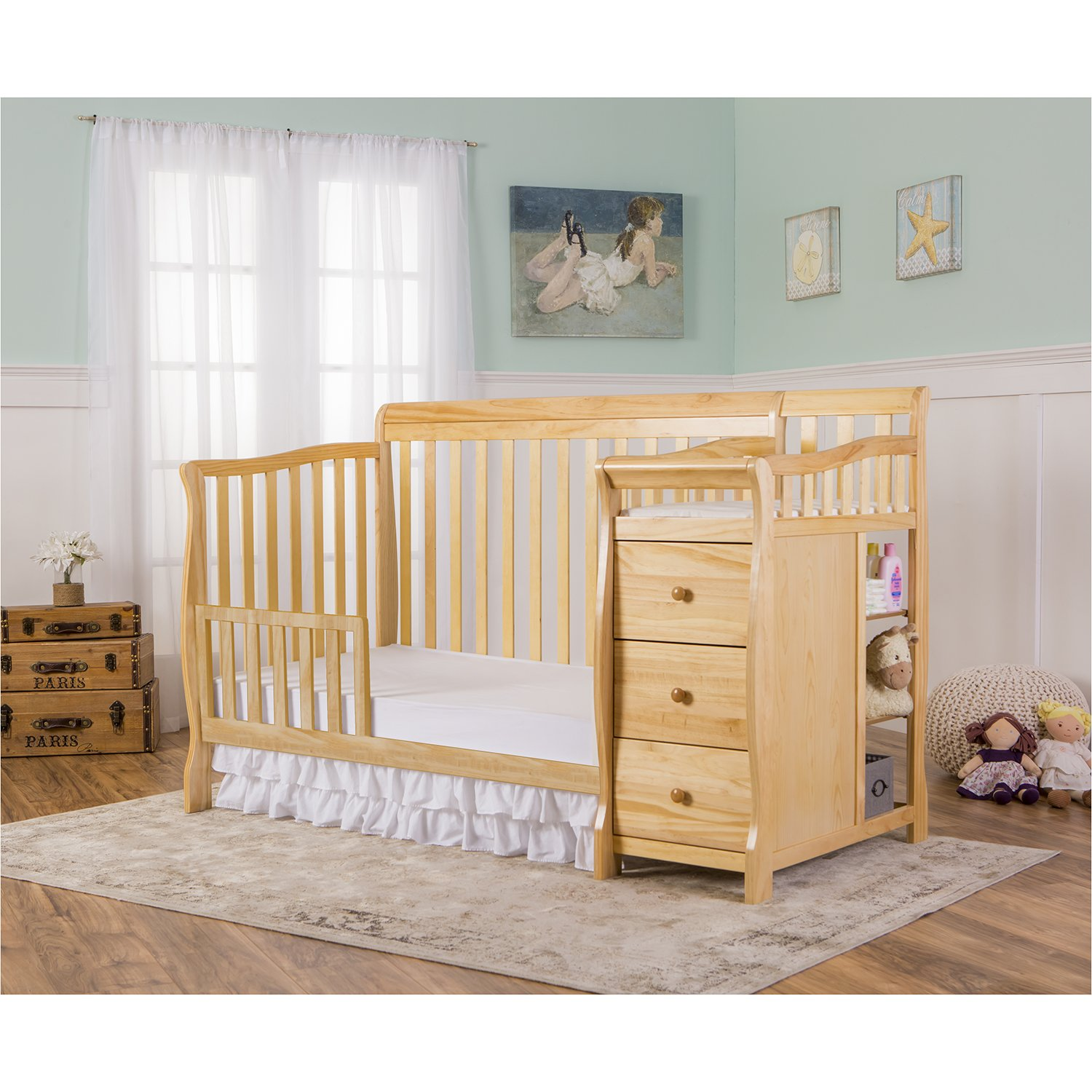 Dream On Me 5 in 1 Brody Convertible Crib with Changer, Natural by Dream On Me (Image #5)