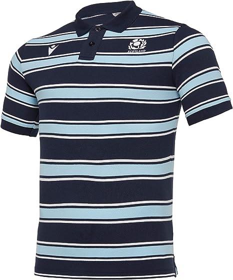 Macron T-Shirt Scotland Rugby 19/20 Leisure Stripe: Amazon.es ...